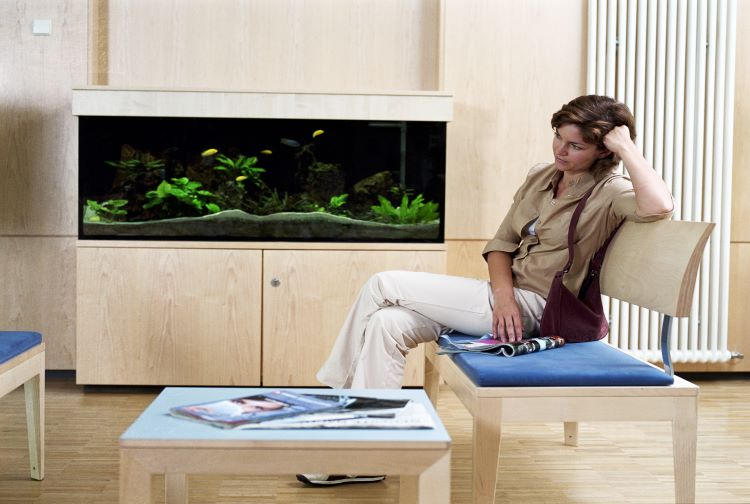Image of patient in waiting room
