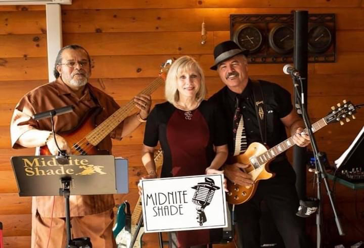 James Gaskins, Janet and Rick Kaiser of local band, Midnite Shade