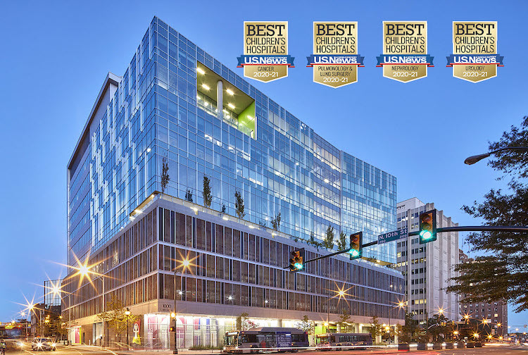 Four Children's Hospital of Richmond at VCU specialties nationally ranked  by U.S. News & World Report