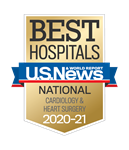 U.S. News & World Report Best Hospitals National: Cardiology & Heart Surgery 2020-21