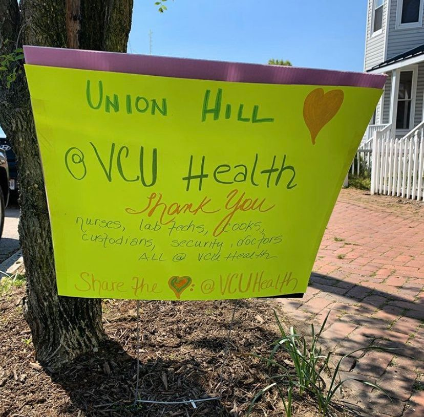 Thank you nurses, lab techs, cooks, custodians, security, doctors, and all at VCU Health